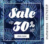 summer sale. web banner or... | Shutterstock .eps vector #451741519
