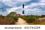 fire island lighthouse with... | Shutterstock . vector #451742209