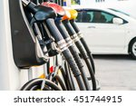 colorful fuel nozzles on the... | Shutterstock . vector #451744915