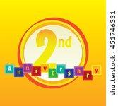 kid and kindergarten themes 2nd ... | Shutterstock .eps vector #451746331