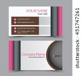 business card design set... | Shutterstock .eps vector #451747261