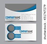 business card design set... | Shutterstock .eps vector #451747279