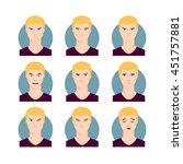blond man illustration set.... | Shutterstock .eps vector #451757881