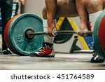 powerlifter to prepare exercise ... | Shutterstock . vector #451764589