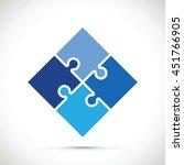 blue jigsaw section | Shutterstock .eps vector #451766905