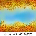 beautiful abstract autumn... | Shutterstock .eps vector #451767775