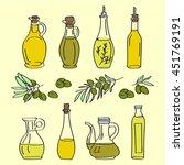 collection of olive oil bottles ... | Shutterstock .eps vector #451769191