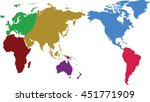 a world map is a map of most or ... | Shutterstock . vector #451771909