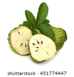 ripe soursop or guyabano fruit... | Shutterstock . vector #451774447