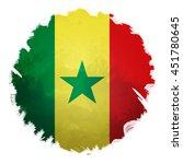 senegal flag  digital art... | Shutterstock . vector #451780645