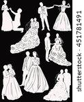 illustration with wedding... | Shutterstock .eps vector #451781491