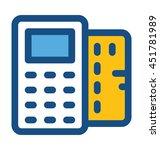 card terminal vector icon | Shutterstock .eps vector #451781989