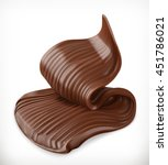 chocolate cream  butter swirl ... | Shutterstock .eps vector #451786021