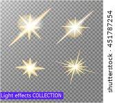 set of golden glowing lights... | Shutterstock .eps vector #451787254