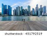 singapore city skyline of...   Shutterstock . vector #451792519
