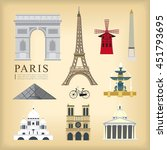 vector landmark of paris ... | Shutterstock .eps vector #451793695