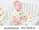 happy baby with cute smile... | Shutterstock . vector #451793974