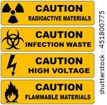 caution sign banners set... | Shutterstock .eps vector #451800775