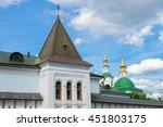 wall st. daniel monastery in... | Shutterstock . vector #451803175