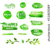 vector natural  organic food... | Shutterstock .eps vector #451805089