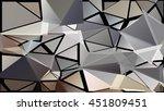 randomly scattered triangles of ... | Shutterstock .eps vector #451809451