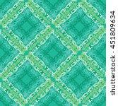 watercolor seamless check... | Shutterstock . vector #451809634