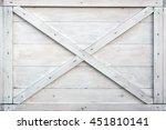 Modern White Wooden Box Front...