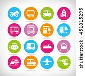 transportation icons | Shutterstock .eps vector #451815295
