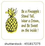stylized pineapple vector... | Shutterstock .eps vector #451817275