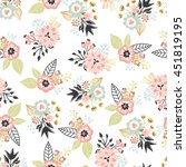 seamless floral pattern. vector ... | Shutterstock .eps vector #451819195