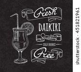 bar menu of cocktail proposal | Shutterstock .eps vector #451821961