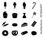 set of sweets icons  vector...   Shutterstock .eps vector #451826497