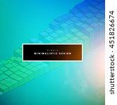 geometric vector background.... | Shutterstock .eps vector #451826674