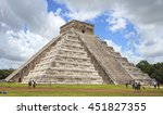 aztec pyramid with clear sky | Shutterstock . vector #451827355