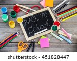 education and business concept. ... | Shutterstock . vector #451828447
