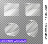 glass plates set. vector glass... | Shutterstock .eps vector #451832005