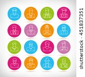 people icons  outline design | Shutterstock .eps vector #451837351