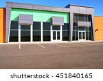 unoccupied generic store front  ... | Shutterstock . vector #451840165