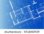 architectural background ... | Shutterstock . vector #451840939