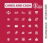 cards and cash icons | Shutterstock .eps vector #451841485