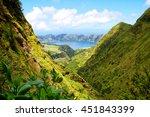 lagoa das sete cidades...   Shutterstock . vector #451843399