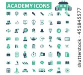 academy icons | Shutterstock .eps vector #451845577