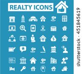 realty icons | Shutterstock .eps vector #451845619