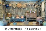 poor lighting of thai rustic... | Shutterstock . vector #451854514