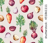 watercolor seamless pattern... | Shutterstock . vector #451861111