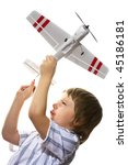 boy with toy airplane | Shutterstock . vector #45186181