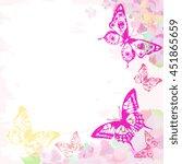 butterflies design   Shutterstock . vector #451865659