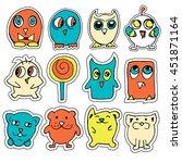 smile funny doodles vector | Shutterstock .eps vector #451871164