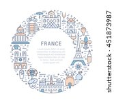 france and paris city concept.... | Shutterstock .eps vector #451873987