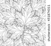 zentangle stylized autumn fall...   Shutterstock .eps vector #451874311
